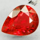 3.12 Ct.Natural Pear 7.5*10 mm. Car Tail Light Color Vivid Orangish Red Sapphire