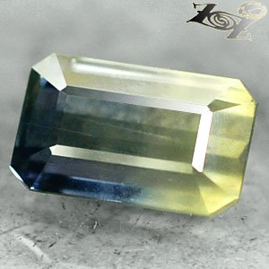 4.21Ct.Collect Grade Unheated Natural Emerald 6*10 Bi Color Yellow Blue Sapphire
