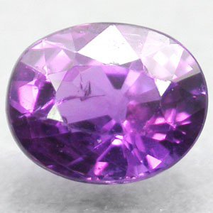 Unheated Firely Natural Oval 5*6 Vivid Juicy Purple Pink Sapphire 0.94 CT.����寶�
