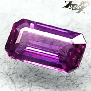 Certified VVS Unheated Natural Emerald 5*8mm Violet Pink Sapphire 1.27 CT.����寶�