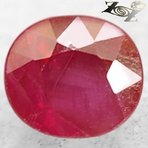 Rare Natural Oval 5.3 * 5.9 mm. Rich Blood Pigeon Red Mogok Burma Ruby 1 Ct.