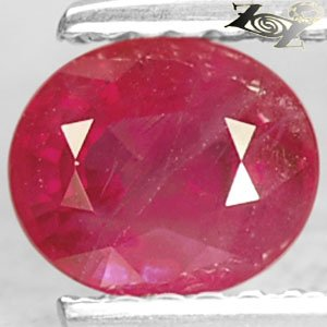 Firely Natural Oval 5*6 mm Intense Blood Pigeon Red Mogok Burma Ruby 1.08 Ct.