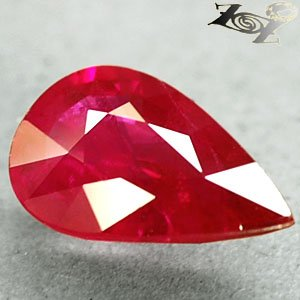 Natural Pear 6*10 mm. Pinkish Red Mogok Burma Ruby 1.52 Ct.
