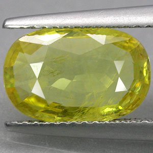 3.3 CT.Natural Oval 8*12 mm. Lemon Yellow Songea Mine Tanzania Sapphire Corundum