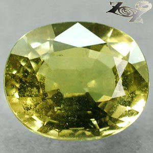 2.77 Ct.Firely Unheated Natural Oval 7.5*9 mm Intense Lime Yellow Tanga Sapphire