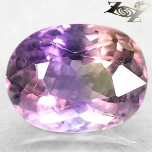 13 CT.Firely Natural Oval 13.5*17.5 mm. Oval Purple Yellow Zone Clear Ametrine