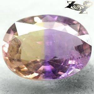 13.69 CT.Natural Oval 14*18 mm. Purple Yellow Zone Clear Ametrine Quartz 紫��