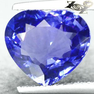 3.95 CT.Flawless Natural Heart 9.5*11 Vivid Cornflower Purple Tanzania Tanzanite