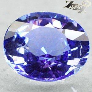 2.01 Ct.Flawless Full Fire Natural Oval 7.5*8.5 mm. Sweet Blue Purple Tanzanite