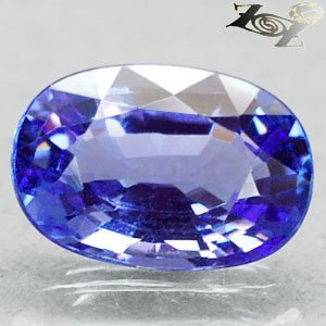 2.85 Ct.Flawless Firely Natural Oval 7*11 mm. Intense Blue Violet Tanzanite ��