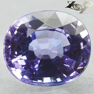 2.98 Ct.Flawless Full Fire Natural Oval 8*9 mm. Intense Blue Purple Tanzanite
