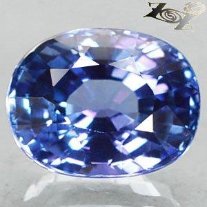 3.69 Ct.Full Fire Flawless Natural Oval 7.5*10 mm. Intense Blue Purple Tanzanite