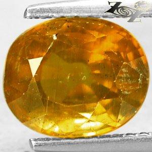 3.14 Ct.Big Firely Natural Oval 7.5*9 mm. Intense Honey Yellow Tanzania Apatite