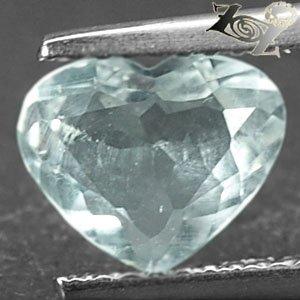 Rare Natural Heart 7*8 mm. Ocean blue Aquamarine 1.19 Ct.Gemstones