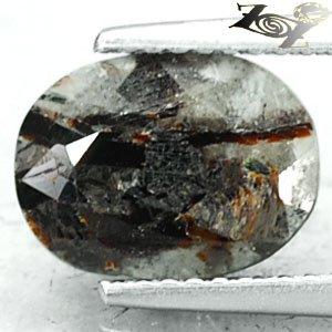 2.65CT.Natural Oval 8*10 mm.Spark Orange Plates Matrix Black Russia Astrophylite