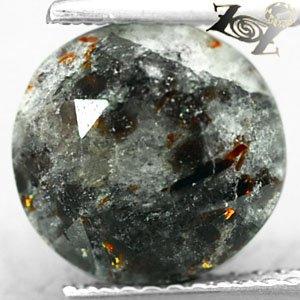 4.03 CT.Natural Round 10 mm. Spark Orange Plates Matrix Russia Astrophylite Gems