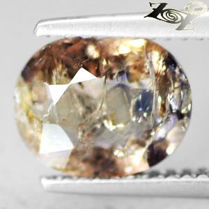 2.31 CT.Natural Oval 8*10 mm. Lilac Yellow Blue Color Shift Magnesio Axinite Gem