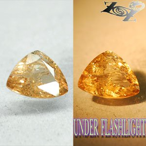 3.42 CT.Natural Trillion 9*10 mm. Lilac Yellow Color Shift France Ferro Axinite