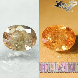 5.39 CT.Firely Natural Oval 9*11 mm. Color Shift Lilac Yellow Magnesio Axinite Gems