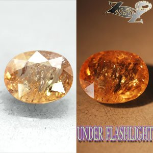 7.22 CT.Natural Oval 10.5*13.5 mm Intense Lilac Yellow Brown Color Shift Axinite