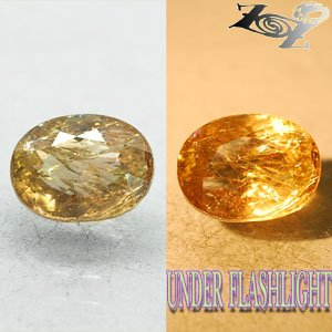 5.88 CT.Natural Oval 9*12 mm. Rainbow Spark Lilac Yellow Color Shift Axinite Gem