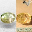 2.26CT.Natural Oval 8*10mm Bi Zone Lilac Yellow Green Color Shift Epidot Axinite