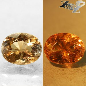 Natural Oval 6.5*8.5 mm. Color Shift Salmon Brown France Ferro Axinite 1.86 Ct.