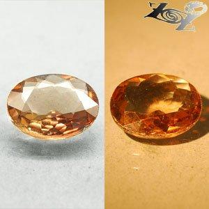 6.67 Ct.VVS Natural Oval 12*14 mm Color Shift Intense Salmon Brown Ferro Axinite