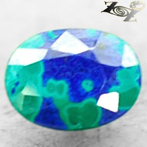 2.74 CT.Natural Oval 7.5*10 mm. Azure Blue Green World Map Azurite Malachite Gem