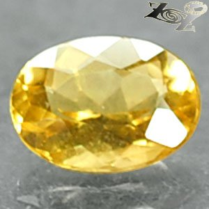 Firely Flawless Natural Oval 6*8 mm.Madagascar Yellow Beryl 1.03 Ct.Loose Gems