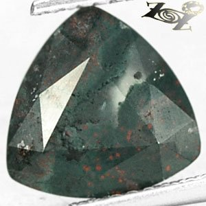 2.74 Ct.Strange Unique Natural Trillion 10 mm. Cystal White Red Green Bloodstone