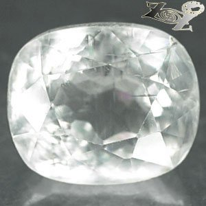 5.51 CT.Rare Natural Oval 9 * 11 mm. Rainbow Sparkle Colorless White Calcite �解�
