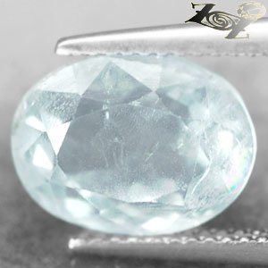 8.1CT.Natural Oval Facet 9*12mm Play Rainbow Ocean Blue Celestite @ Zoultier ONLY
