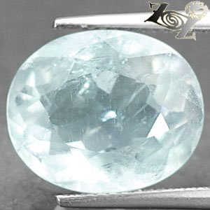 12.39 CT.Natural Oval Facet 12*14 mm. Intense Ocean Blue Celestite @ZoultierONLY