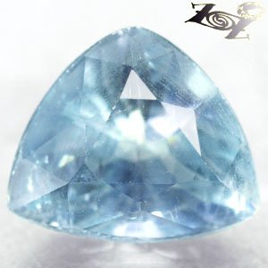 13.68CT.Firely Rare Quality Natural Trillion 12*14 mm Ocean Blue Celestite 天��