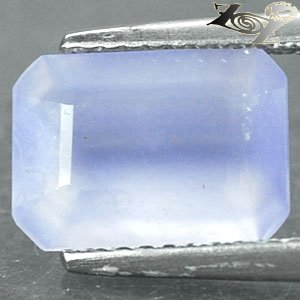 2.39 Ct.Natural Emerald 7.5*10 mm. Intense Lavender Blue Africa Chalcedony ��