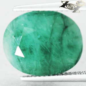 8.57 CT.Natural Oval 11*14 mm. Green Serbia Emerald Beryl Loose Gemstones