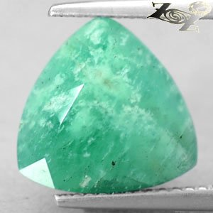 5.93 Ct.Natural Trillion 11.5 mm. Intense Mint Green Serbia Emerald Beryl Gems
