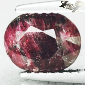 Natural Oval 7*8 mm. Intense Magenta Red Crystal Canada Eudialyte 1.6 CT.Gems