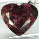 23.41 Ct.Natural Heart 25*27 mm Black Ptach Crystal Magenta Red Canada Eudialyte