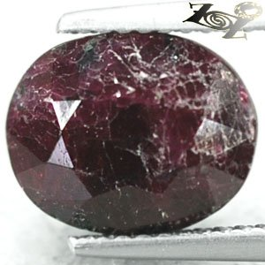 5.06 CT.Natural Oval 8.5*10.5mm Crystal Magenta Red Whole Piece Canada Eudialyte