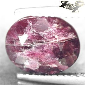 3.66 CT.Natural Oval 8*10 mm. Intense Magenta Red Crystal Whole Canada Eudialyte