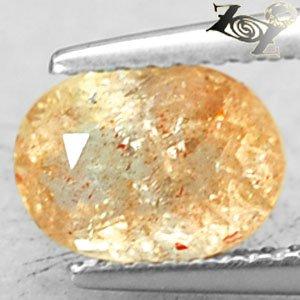 Natural Oval 6*8.5 mm.Copper Spark Orange Illusion Confetti Sunstone 1.4 CT.Gem