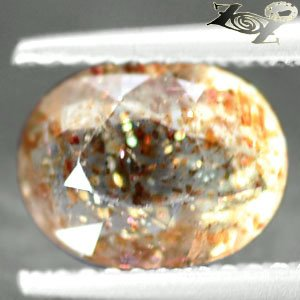 Natural Oval 7*9 mm. Spark Hematite Plates Confetti Illusion Sunstone 1.52 CT.