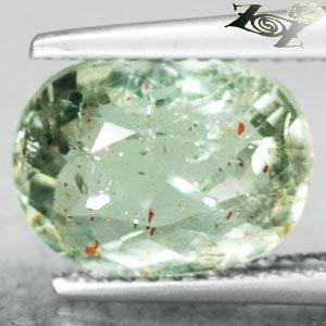 3.5 CT.Natural Oval 8.5*11 Spark Orange Intense Green Illusion Confetti Sunstone