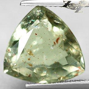 8 CT.Natural Trillion 14mm.Spark Hematite Kiwi Green Illusion Confetti Sunstone