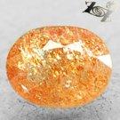 Natural Oval 6.5*8 mm.Spark Copper Hematite Illusion Confetti Sunstone 1.36 CT.