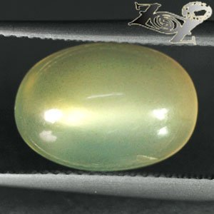 5.67 CT.Natural Oval 9*13 mm. Gold Cat's Eye Effect Silky Yellow Moonstone ���
