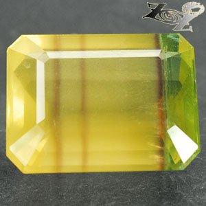 27.44 Ct.Natural Emerald 16*20 Purple Bright Lemon Yellow Green Fluorite Gems ��
