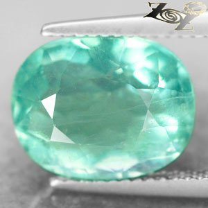 7.95 CT.Firely Natural Oval 10*12.5 mm. Intense Bright Green Vietnam Fluorite